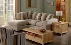 Homebase brand Amelie Left hand Corner Group Natural sofa