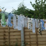 nappies on washing line