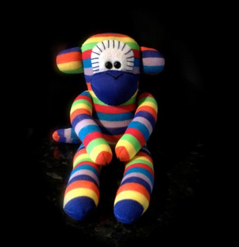 rainbow-sock-monkey