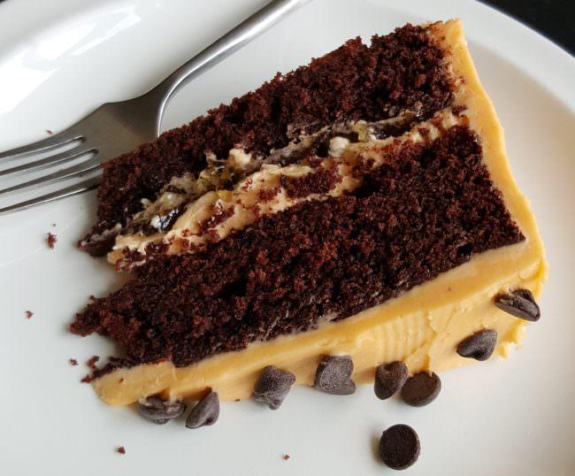 chocolate orange cake slice