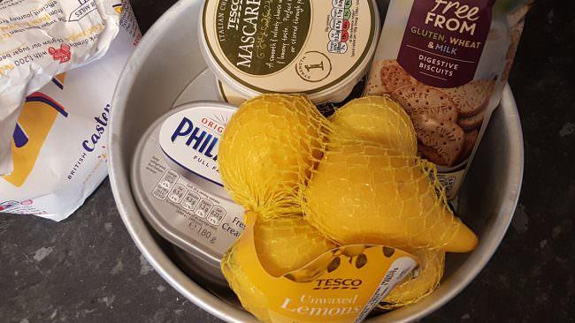 gluten free cheesecake ingredients