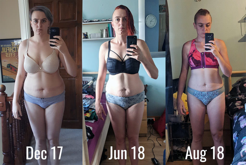 weight loss progress over the course of 6-7 months